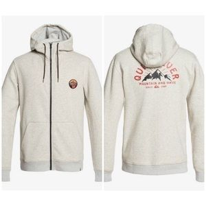 Quiksilver 'Big Logo Snow' Tech ZIP Hoodie